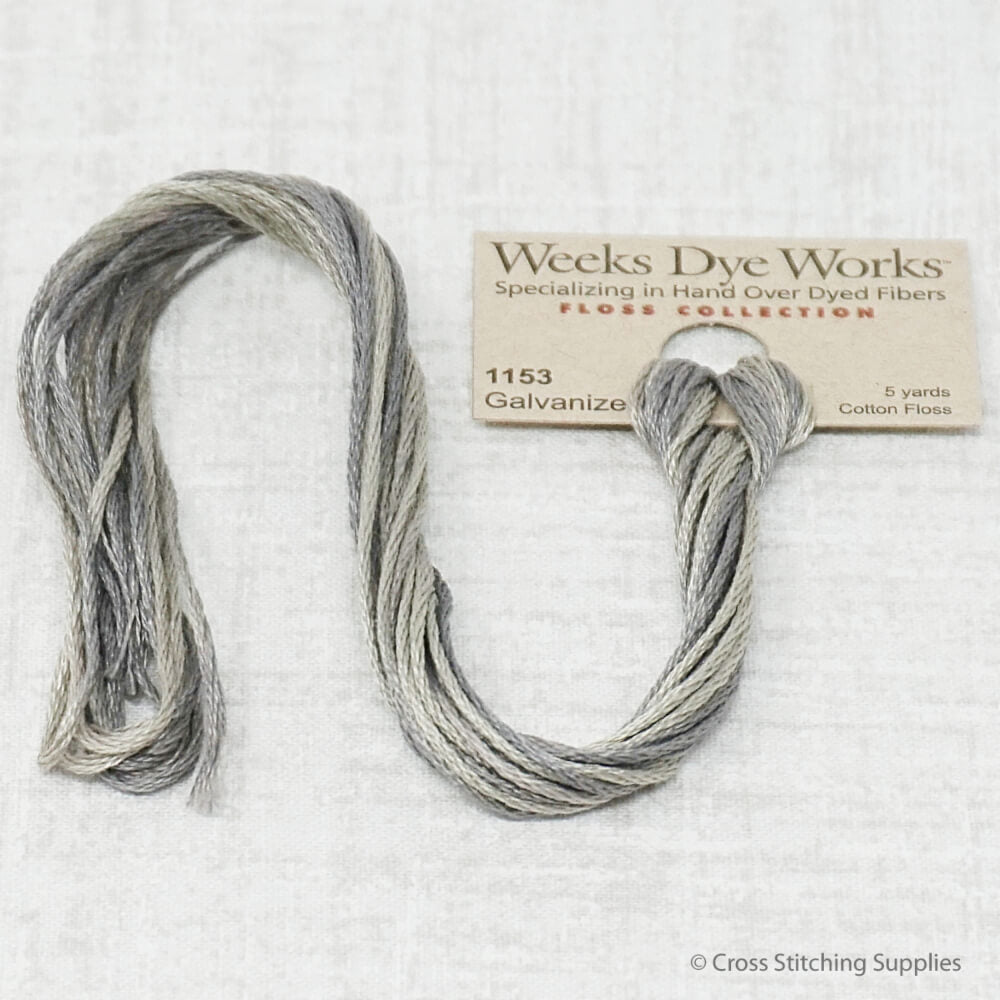 Galvanized Weeks Dye Works overdyed floss