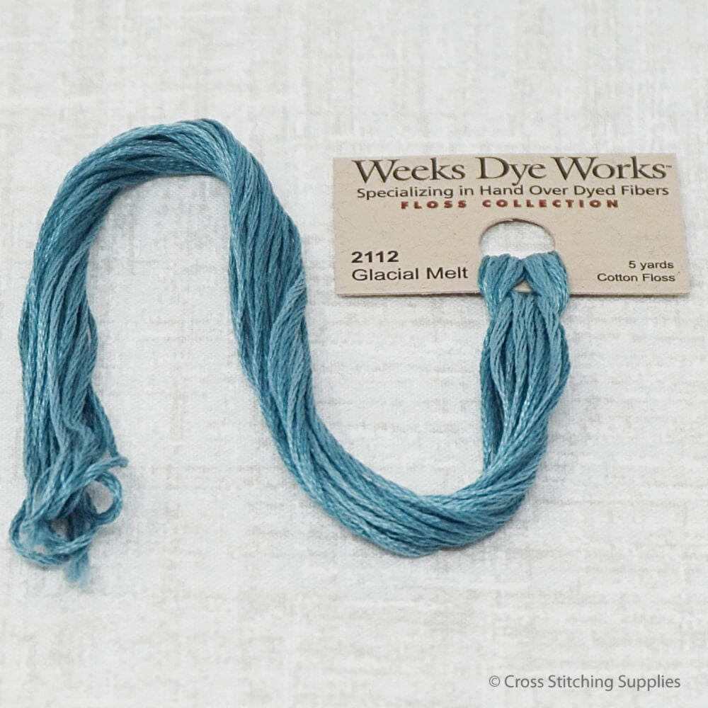 Glacial Melt Weeks Dye Works overdyed floss