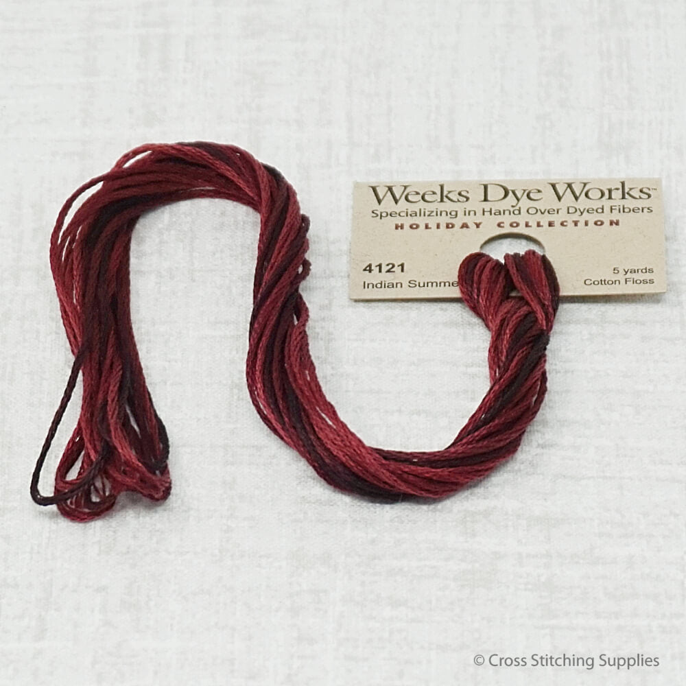 Indian Summer Weeks Dye Works overdyed floss