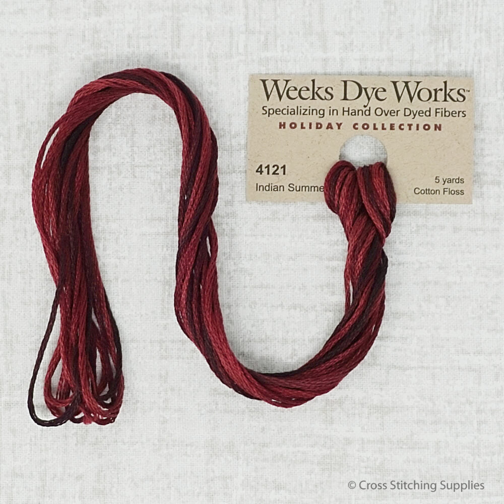Indian Summer Weeks Dye Works embroidery thread