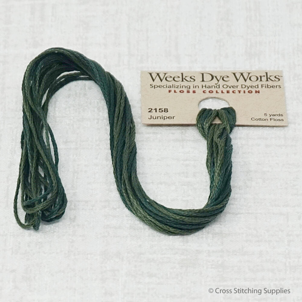 Juniper Weeks Dye Works overdyed floss