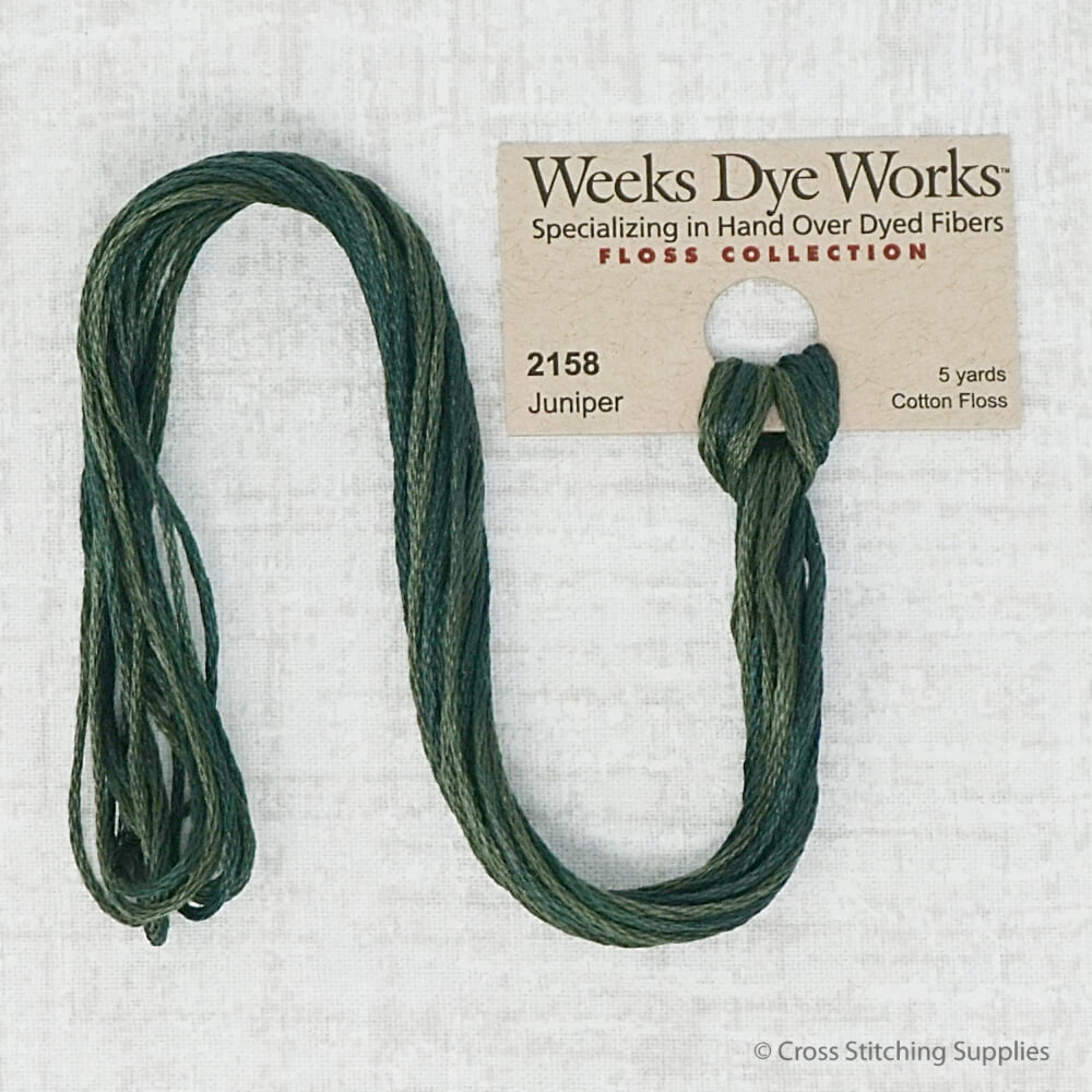 Juniper Weeks Dye Works embroidery thread