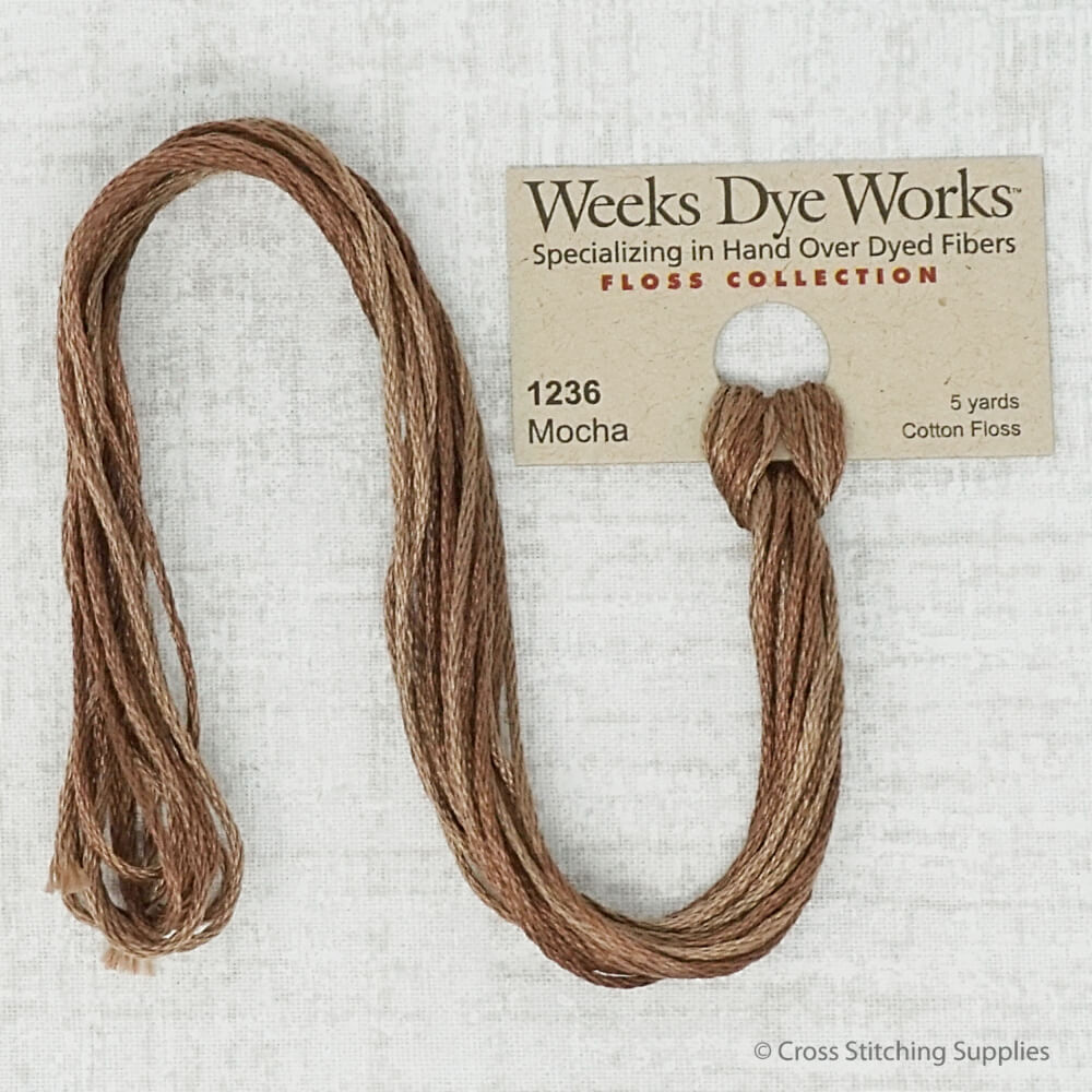Mocha Weeks Dye Works embroidery thread