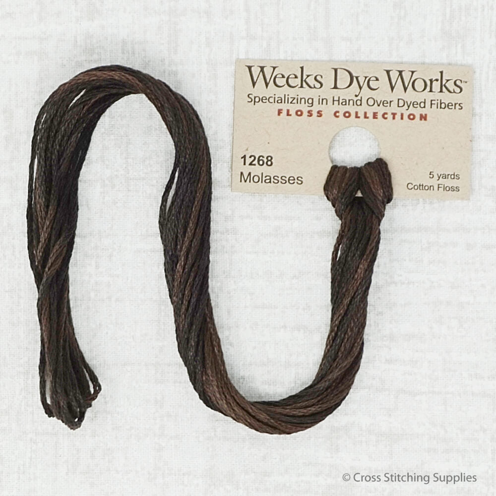 Molasses Weeks Dye Works embroidery thread
