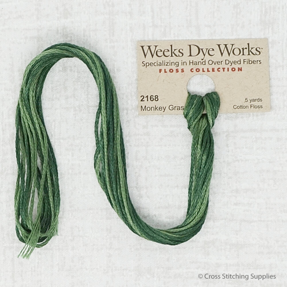 Monkey Grass Weeks Dye Works embroidery thread