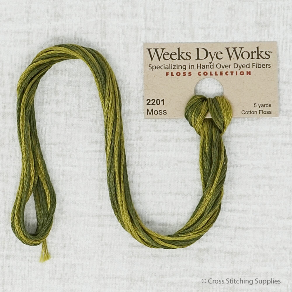 Moss Weeks Dye Works embroidery thread