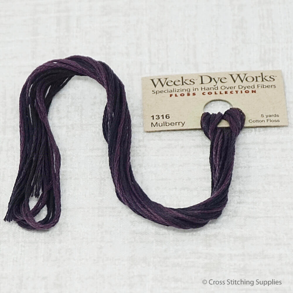 Mulberry Weeks Dye Works overdyed floss