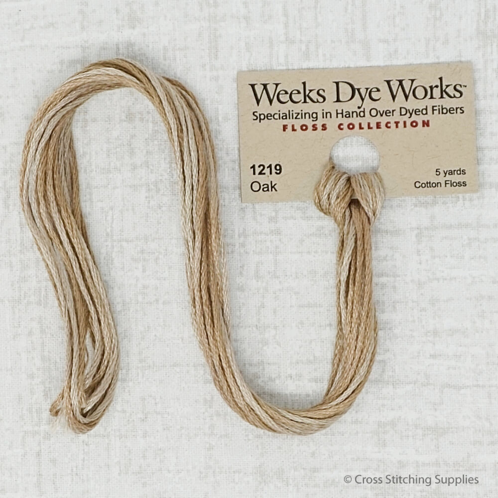 Oak Weeks Dye Works embroidery thread