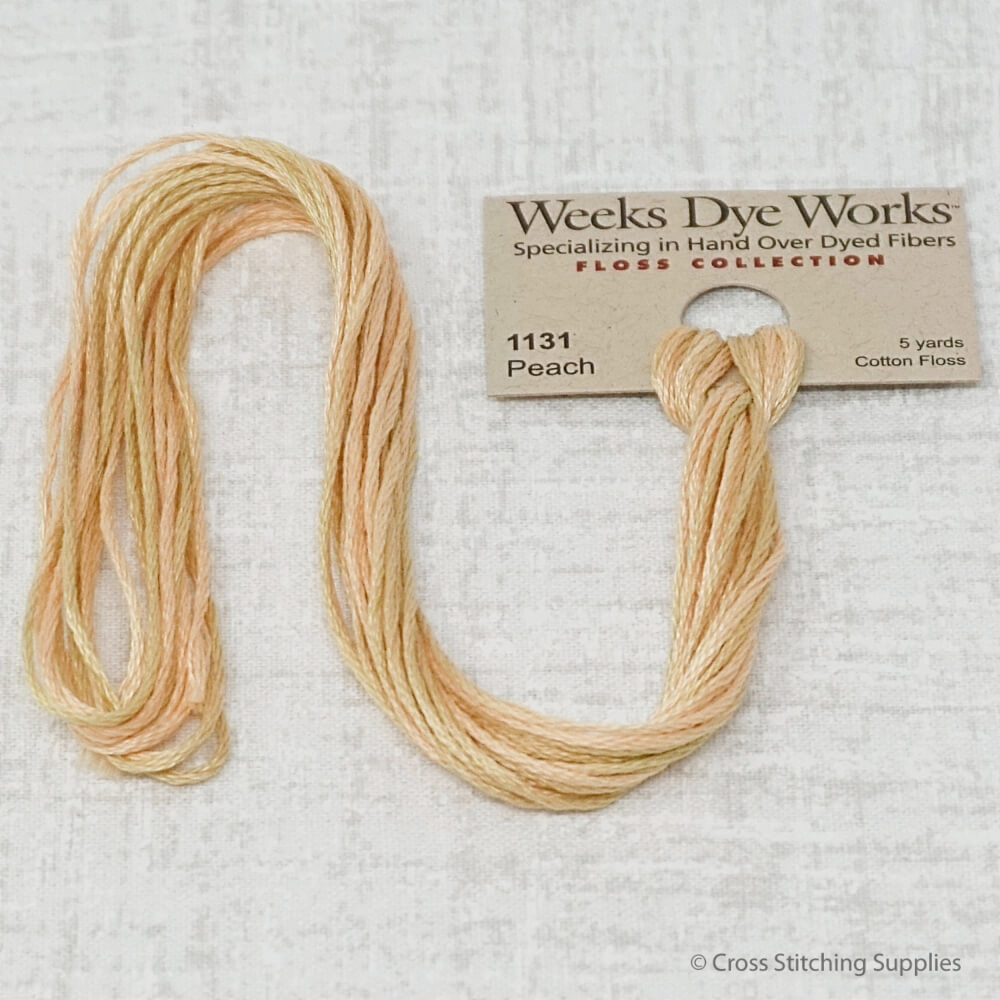 Peach Weeks Dye Works overdyed floss