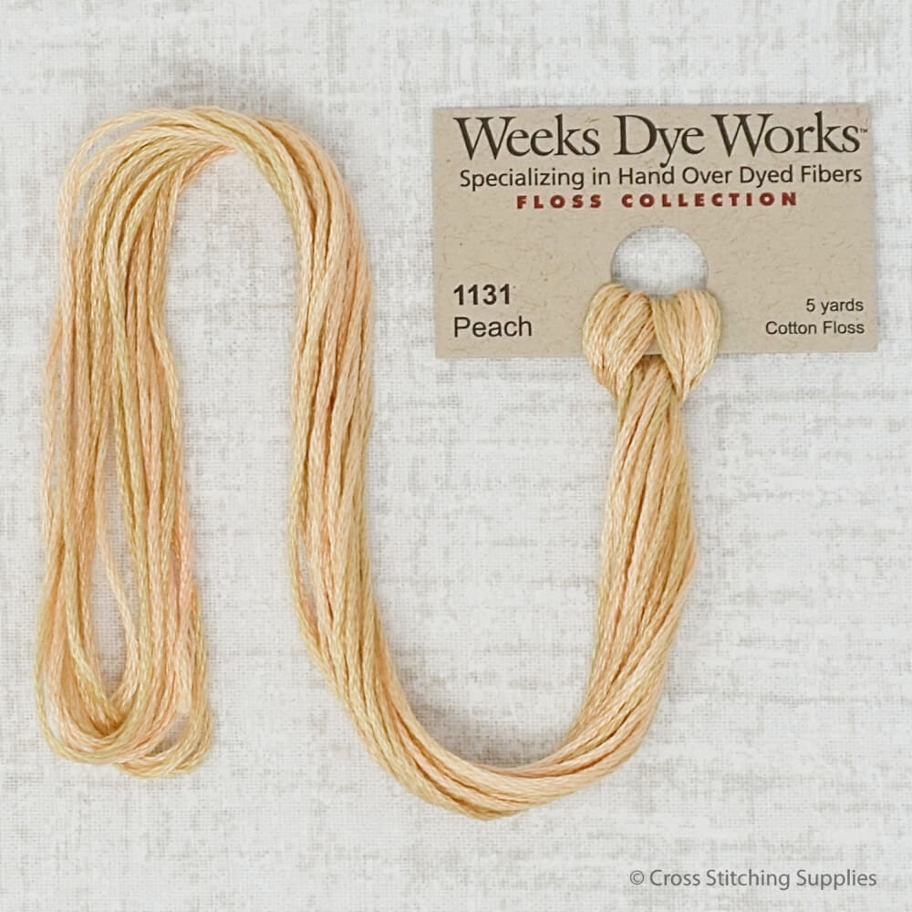 Peach Weeks Dye Works embroidery thread