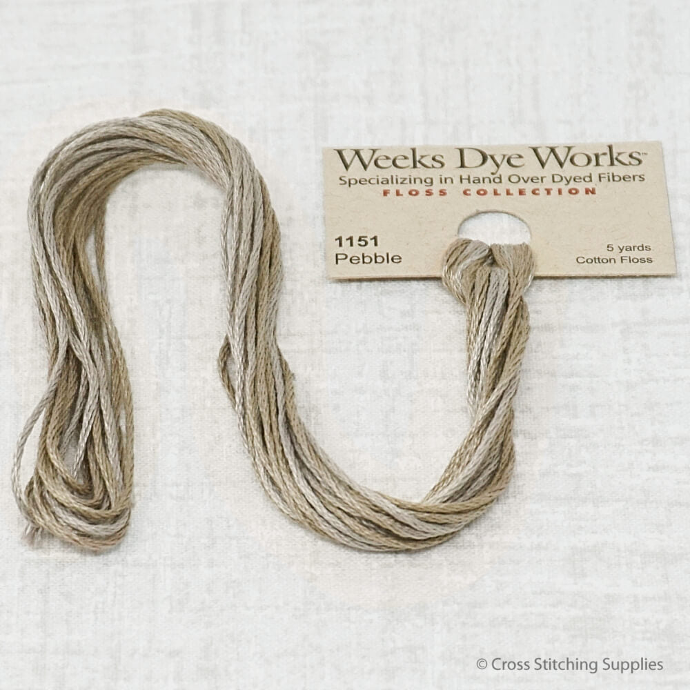 Pebble Weeks Dye Works overdyed floss
