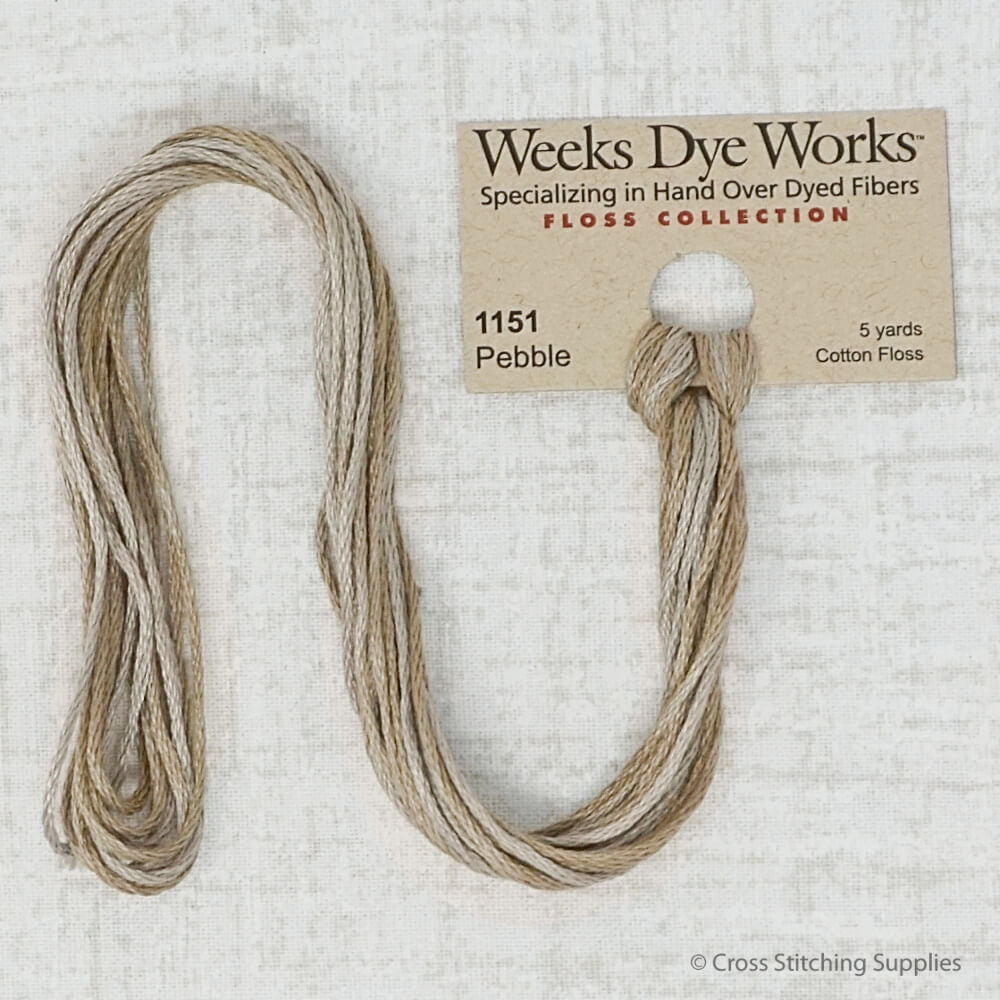 Pebble Weeks Dye Works embroidery thread