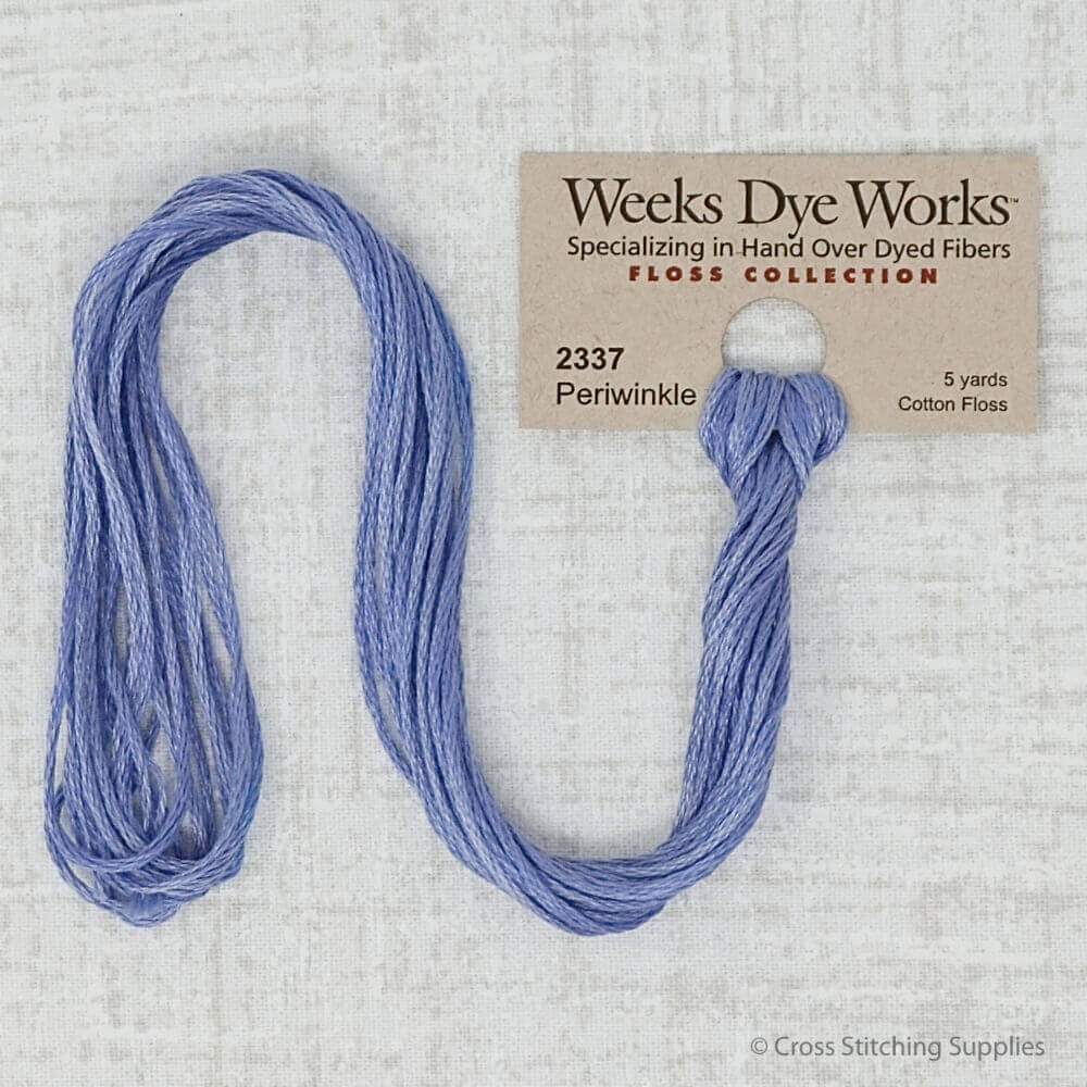 Periwinkle Weeks Dye Works embroidery thread