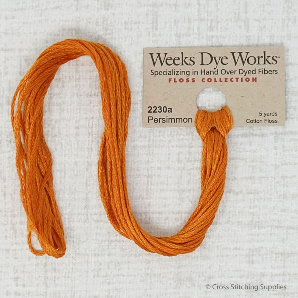 Persimmon Weeks Dye Works embroidery thread