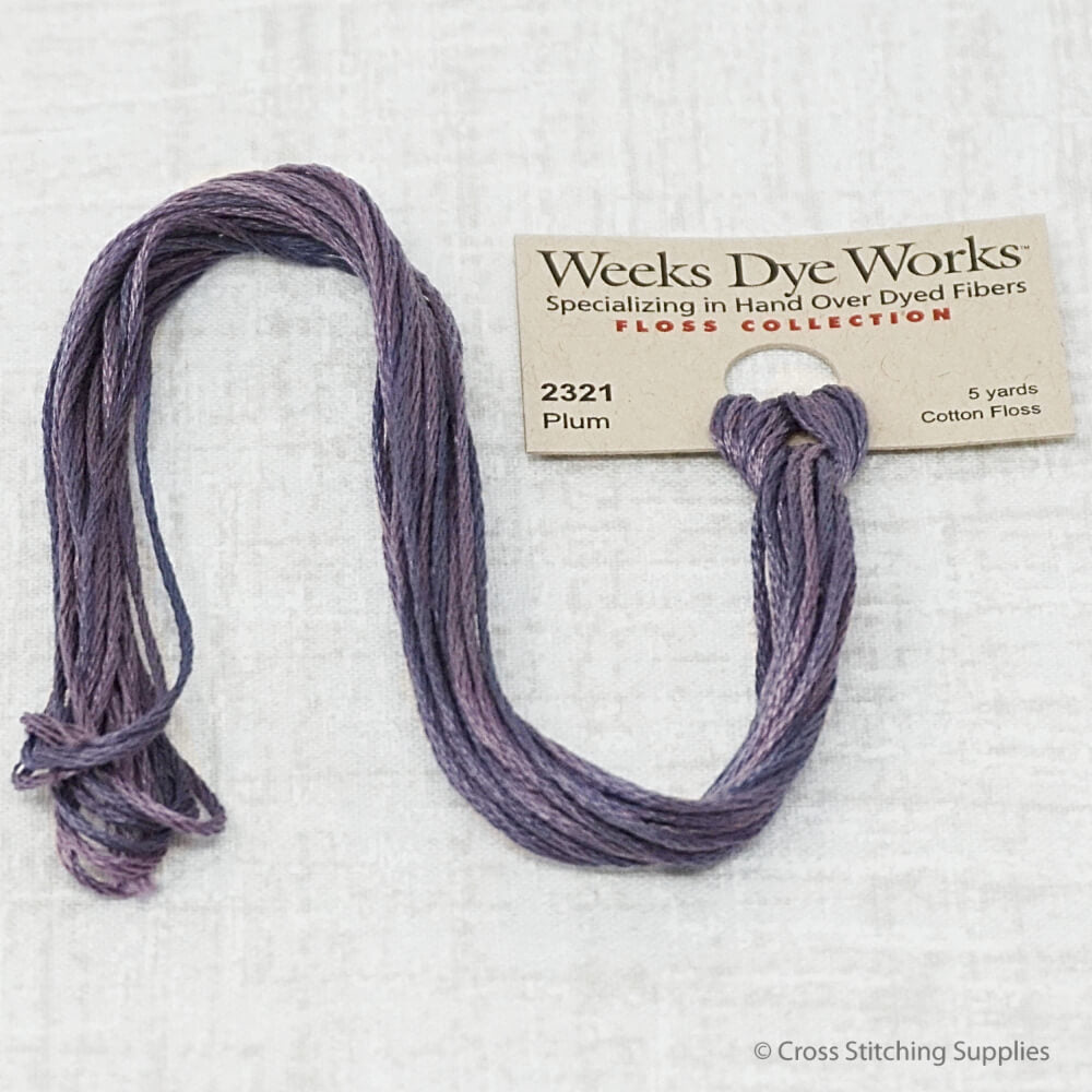 Plum Weeks Dye Works overdyed floss