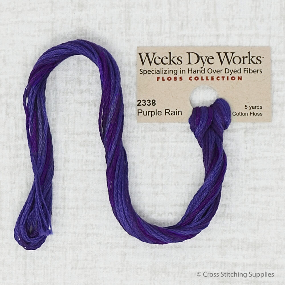 Purple Rain Weeks Dye Works embroidery thread
