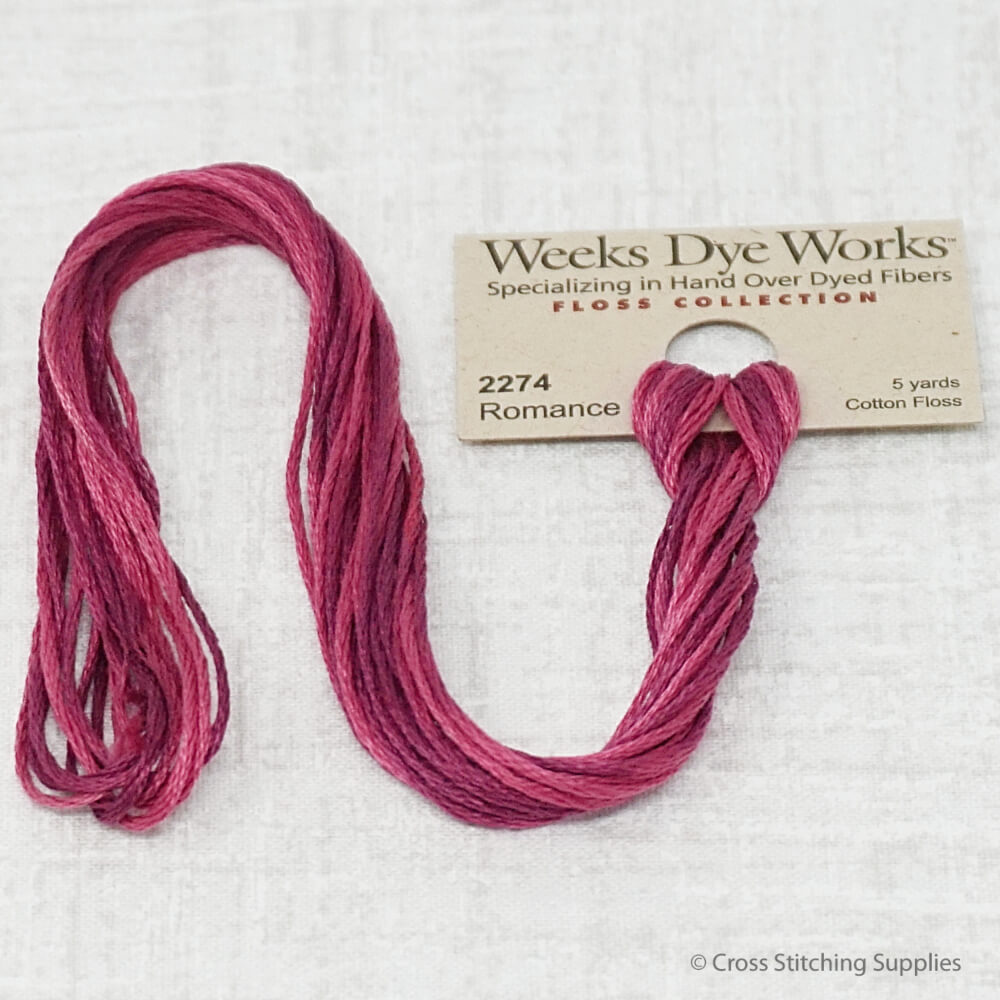Romance Weeks Dye Works overdyed floss