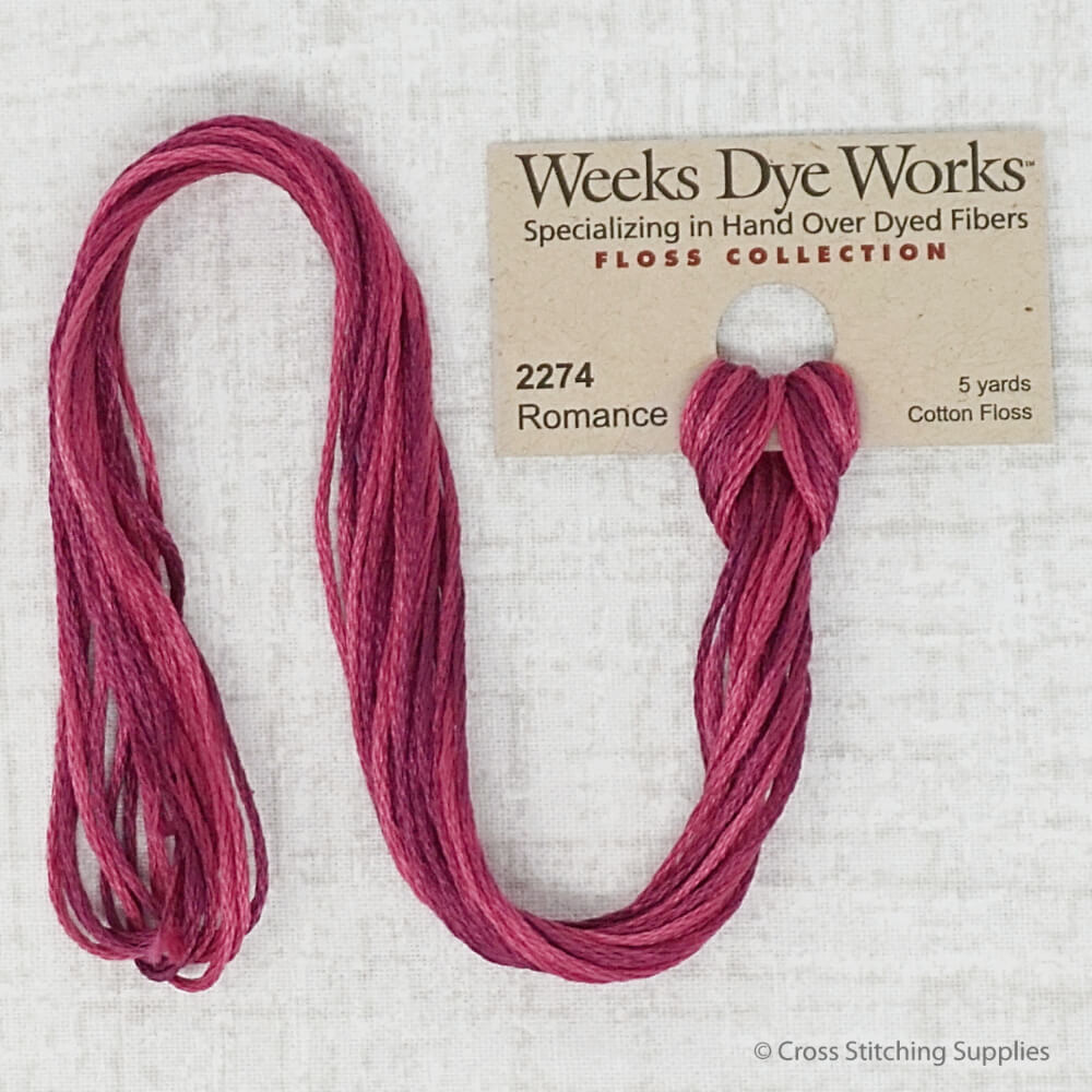 Romance Weeks Dye Works embroidery thread