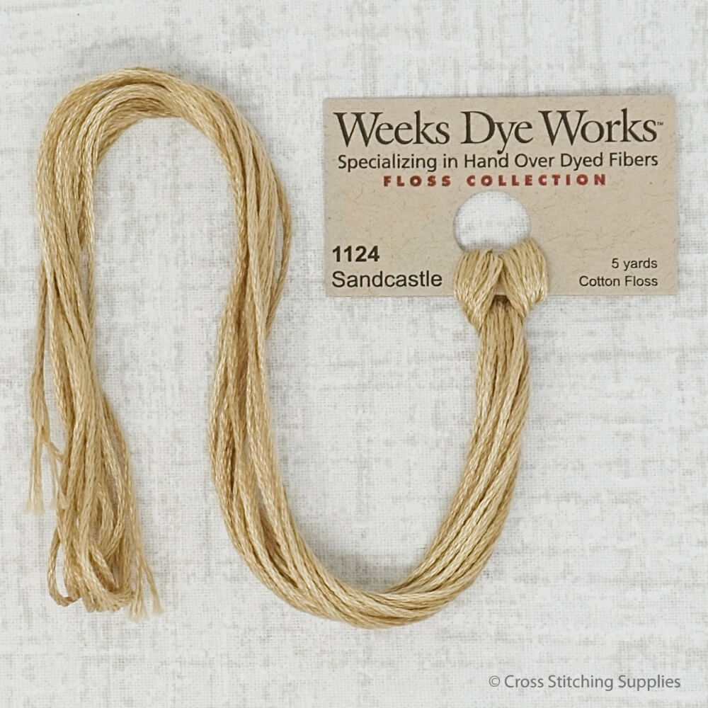 Sandcastle Weeks Dye Works embroidery thread