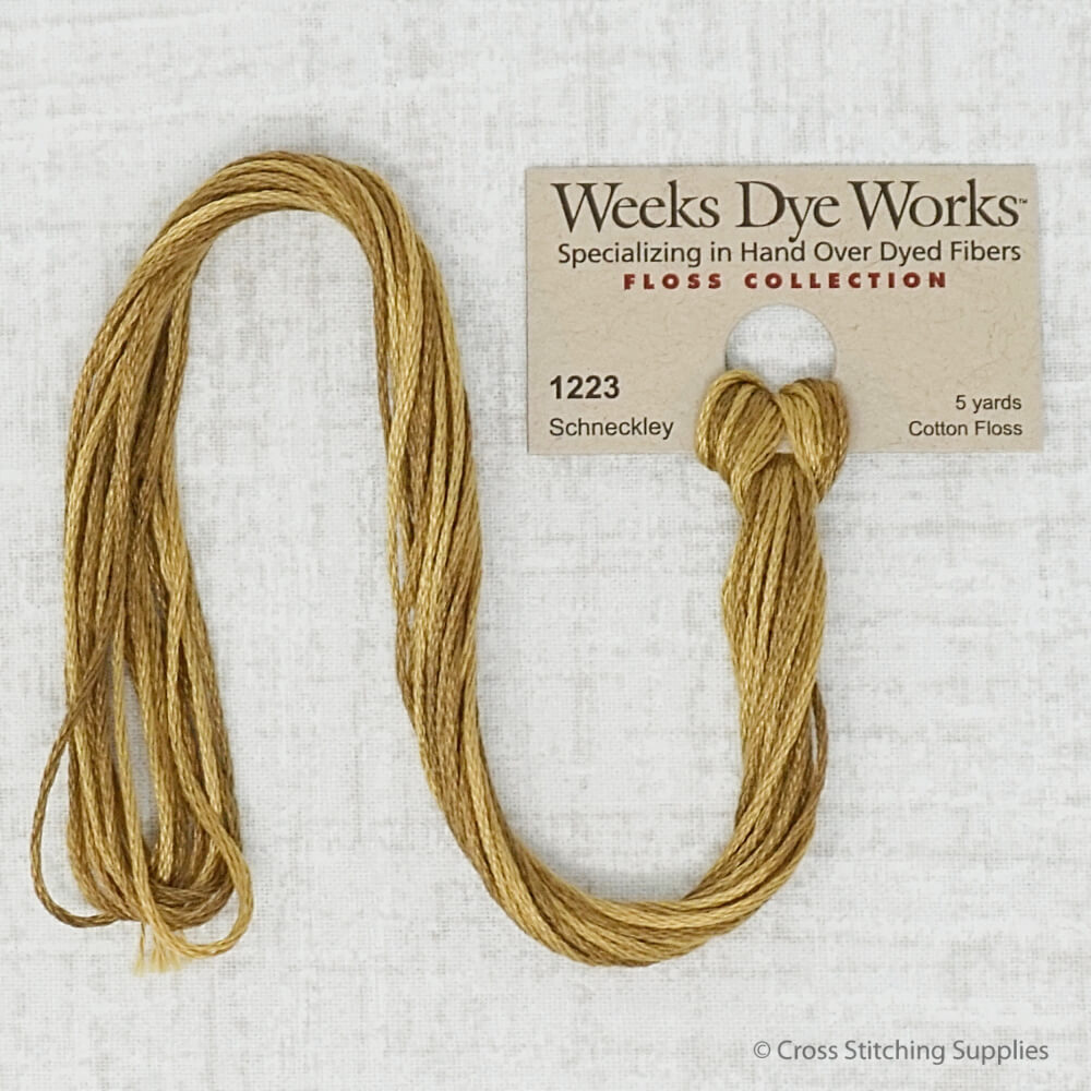 Schneckley Weeks Dye Works embroidery thread