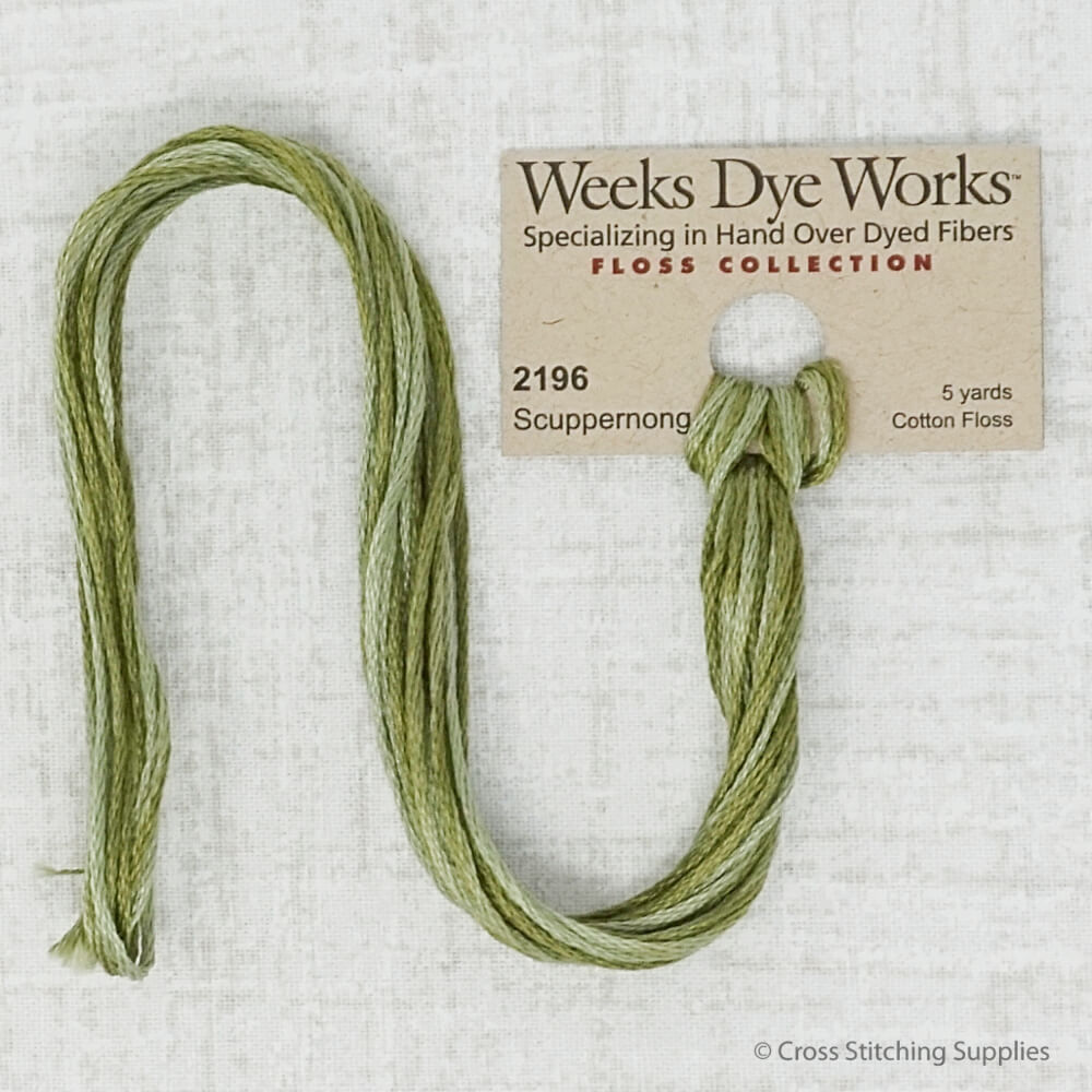 Scuppernong Weeks Dye Works embroidery thread