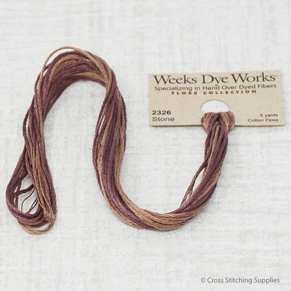 stone Weeks Dye Works overdyed floss