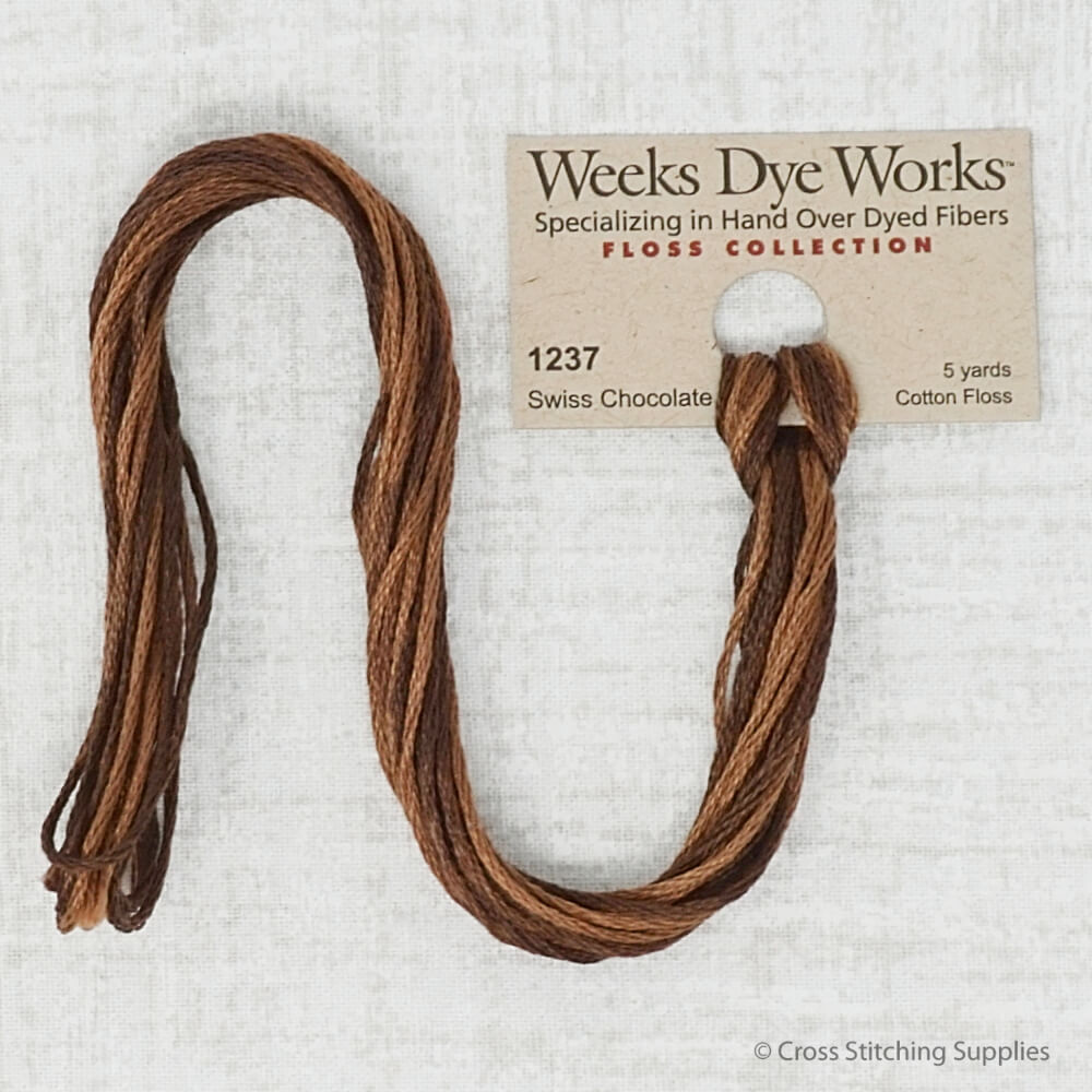 Swiss Chocolate Weeks Dye Works embroidery thread