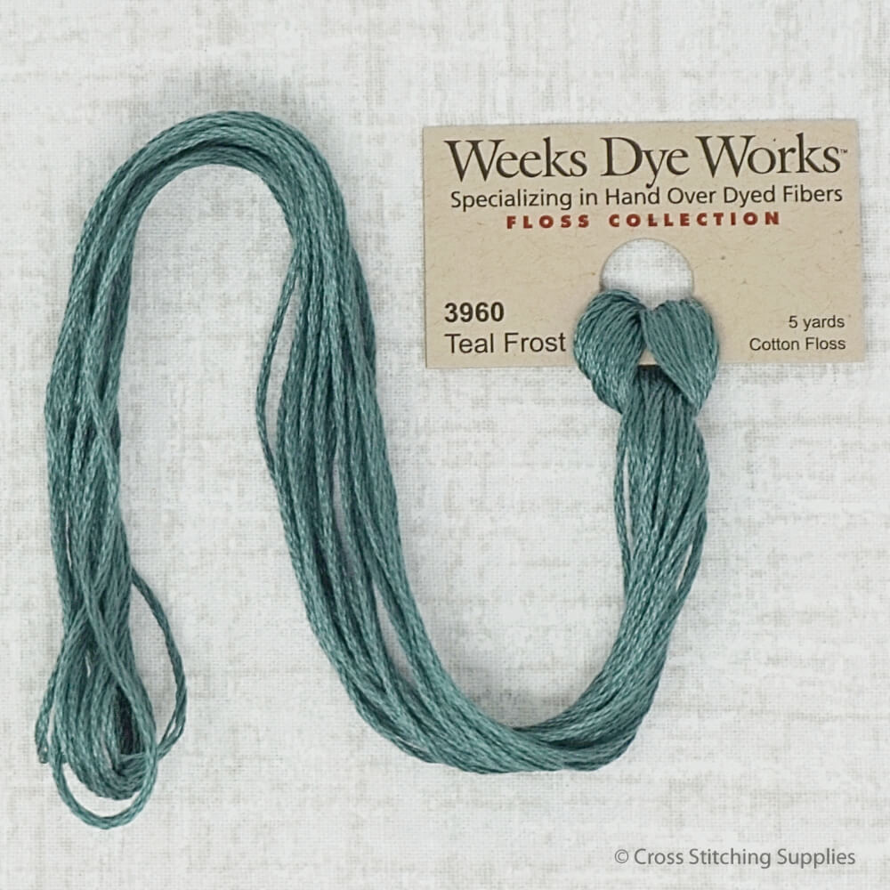 Teal Frost Weeks Dye Works embroidery thread