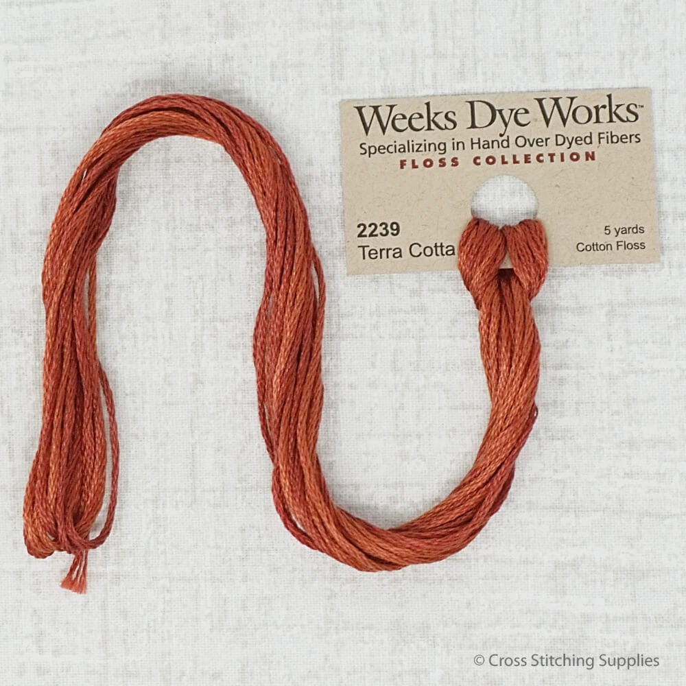 Terra Cotta Weeks Dye Works embroidery thread