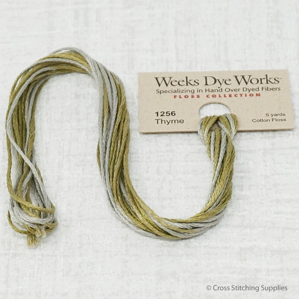 Weeks Dye Works - Thyme (5 yd. skein) Overdyed Floss