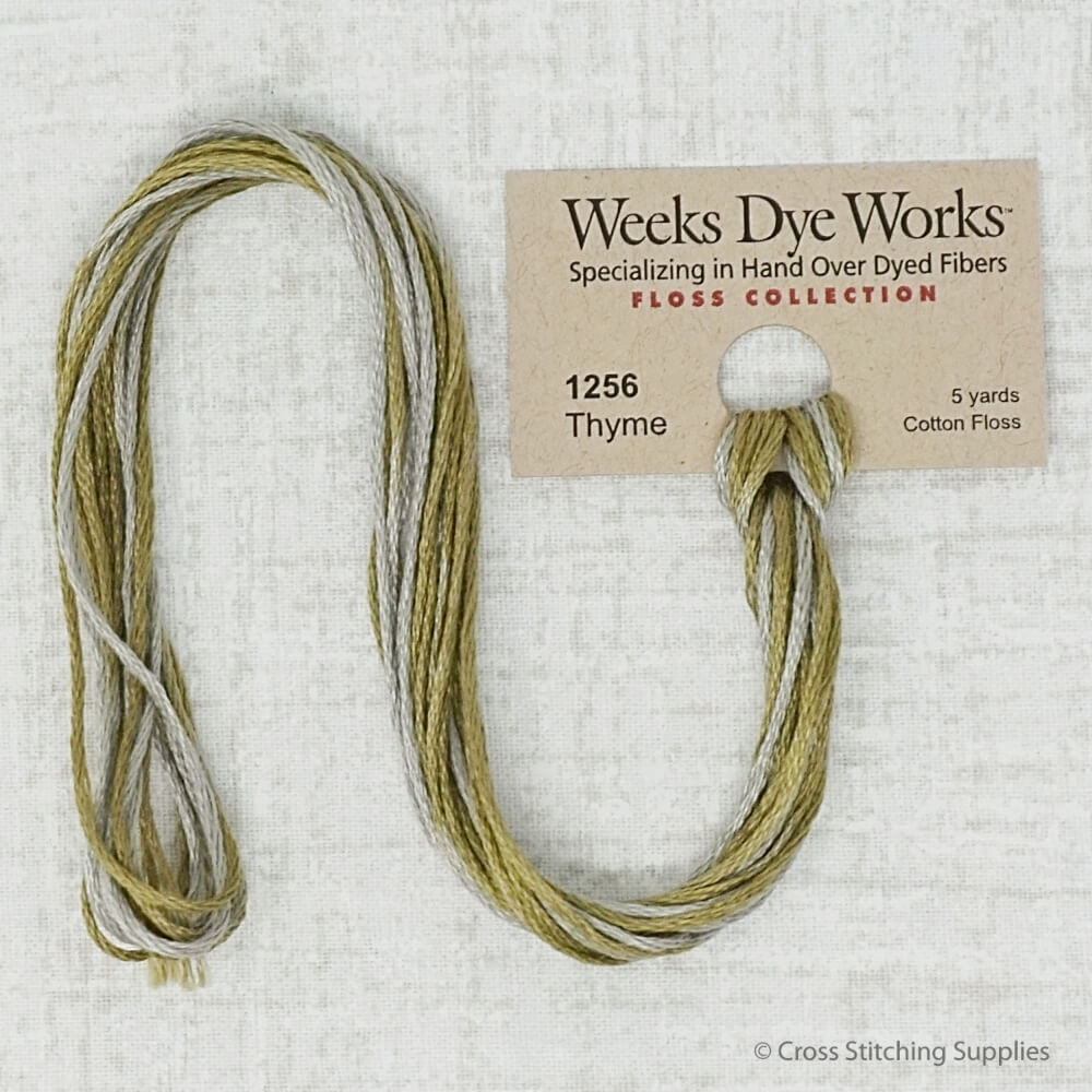 Thyme Weeks Dye Works embroidery thread