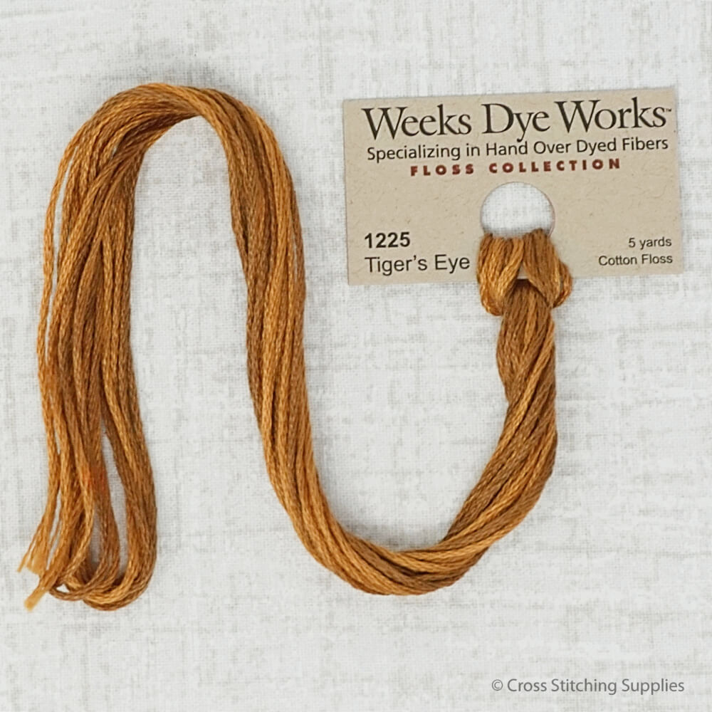 Tiger's Eye Weeks Dye Works embroidery thread