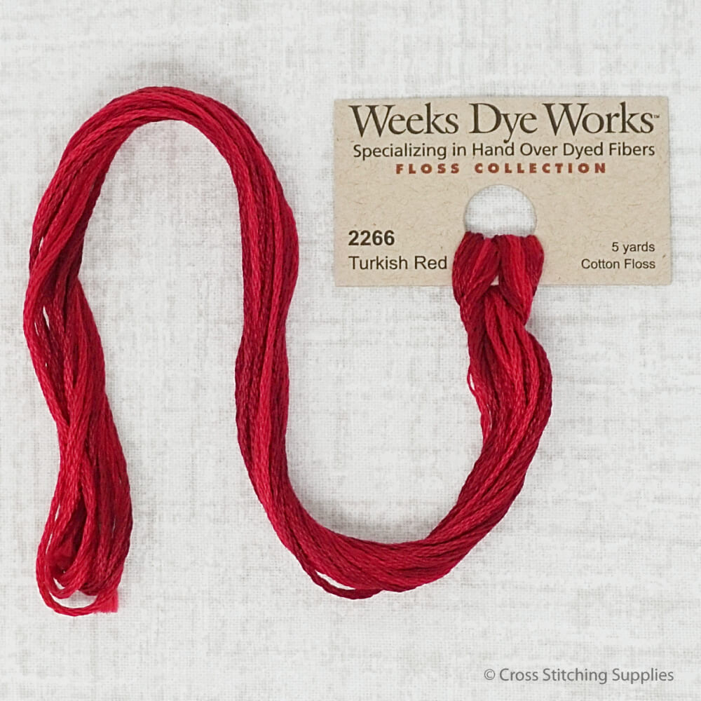 Turkish Red Weeks Dye Works embroidery thread