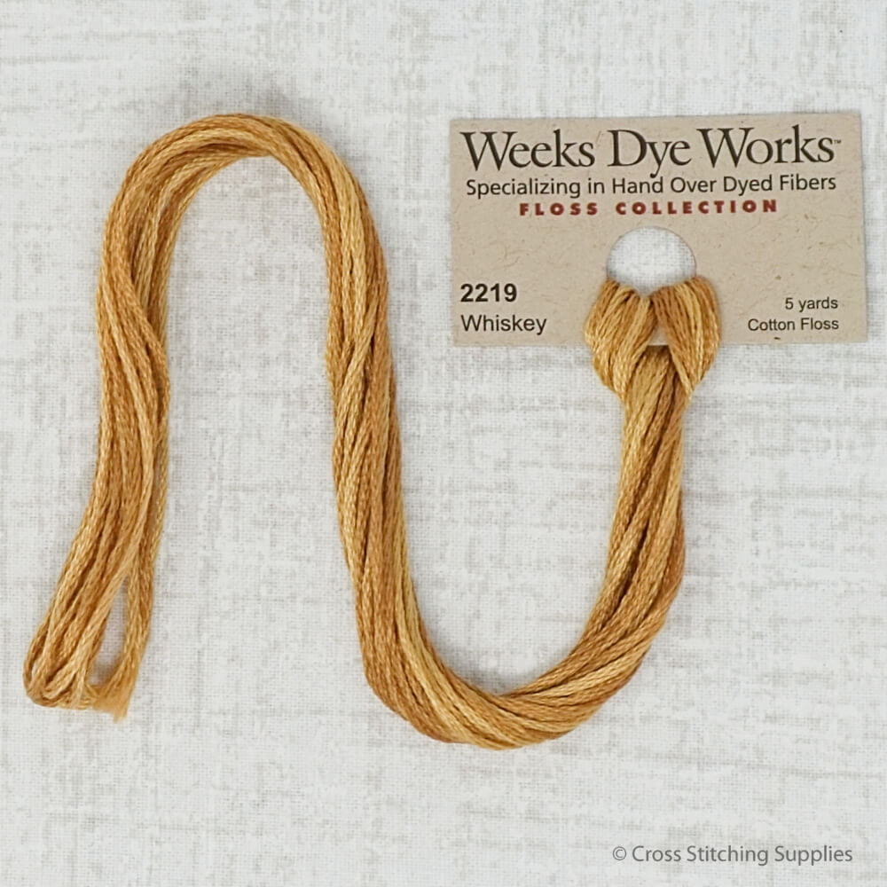 Whiskey Weeks Dye Works embroidery thread
