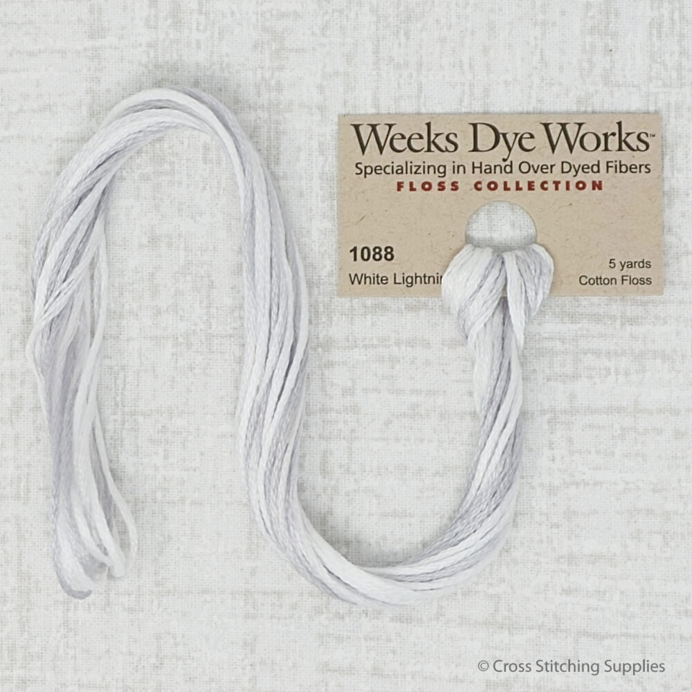 White Lightning Weeks Dye Works embroidery thread