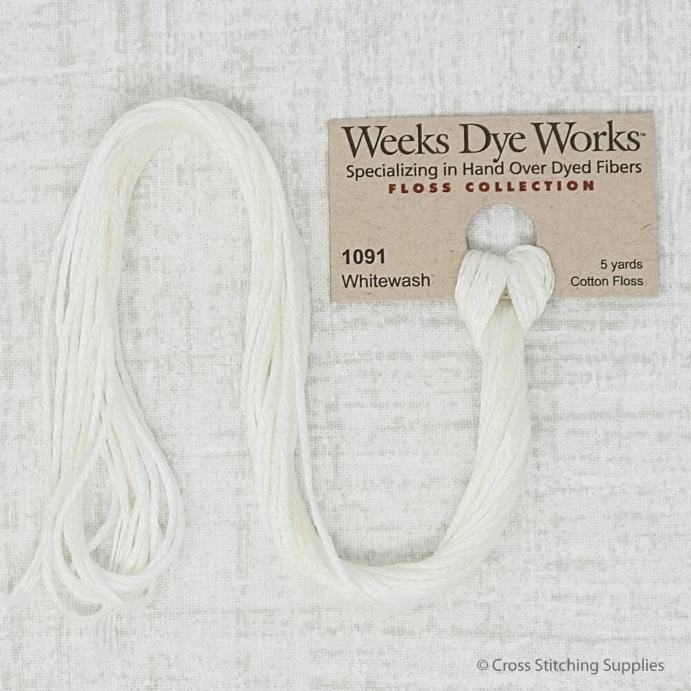 Whitewash Weeks Dye Works embroidery thread
