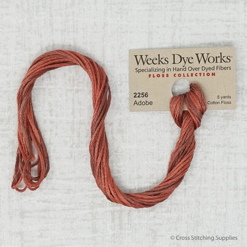 Adobe Weeks Dye Works embroidery floss