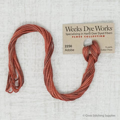 Weeks Dye Works - Adobe (5 yd. skein) Overdyed Floss