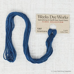 Weeks Dye Works - Americana (5 yd. skein) Overdyed Floss