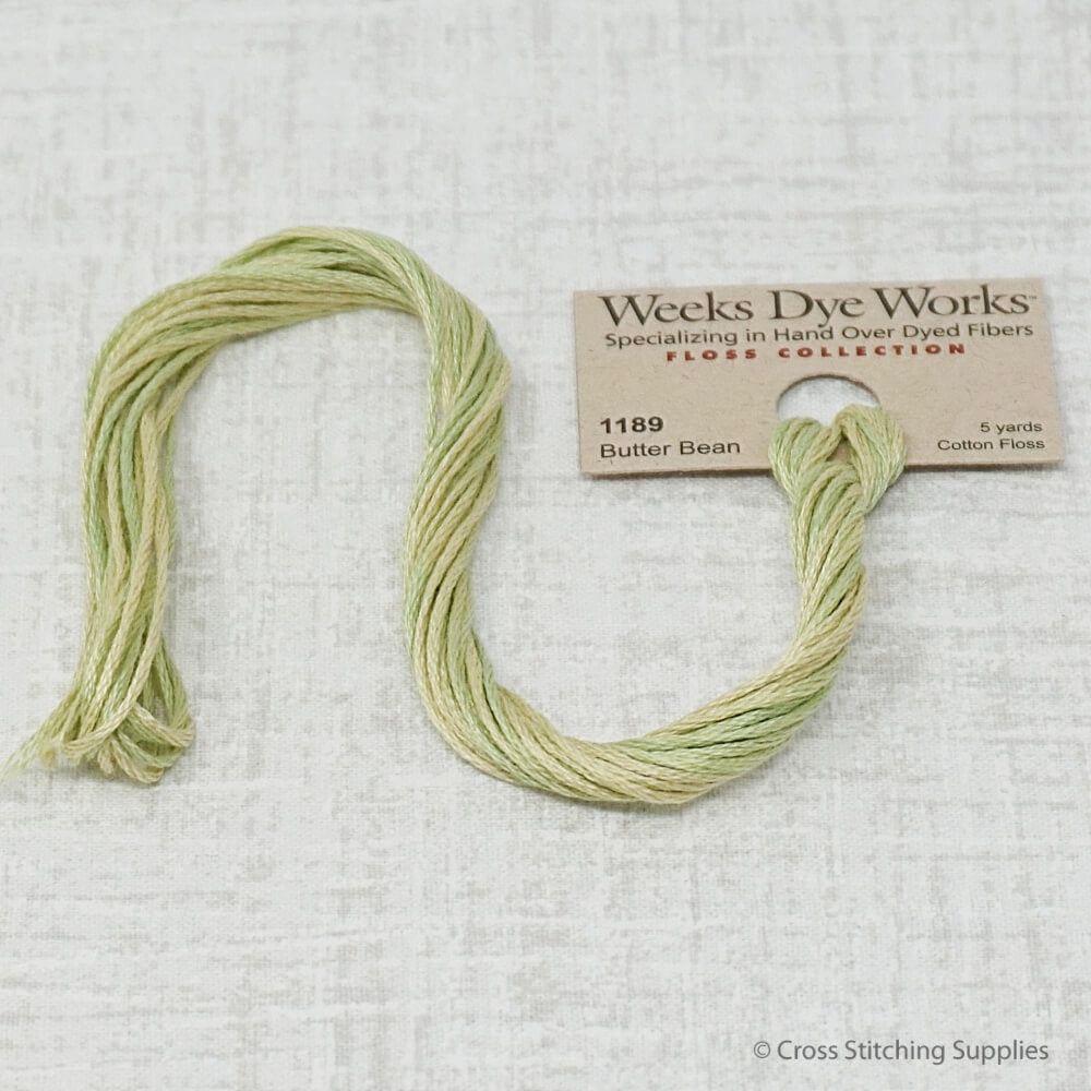 Butter Bean Weeks Dye Works Floss