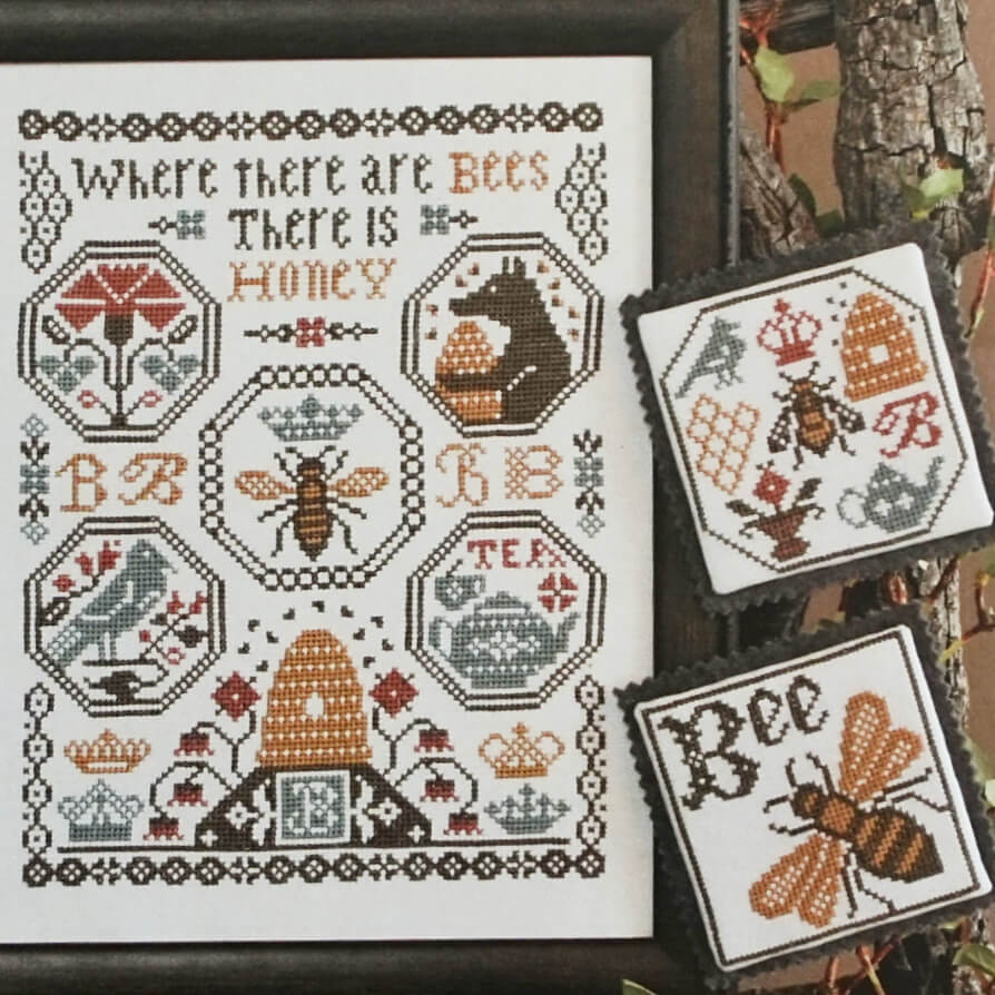 Where There Are Bees counted cross stitch patterns