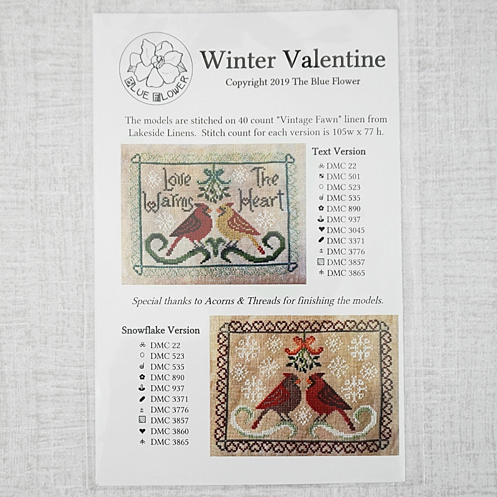 Winter Valentine pattern for sale