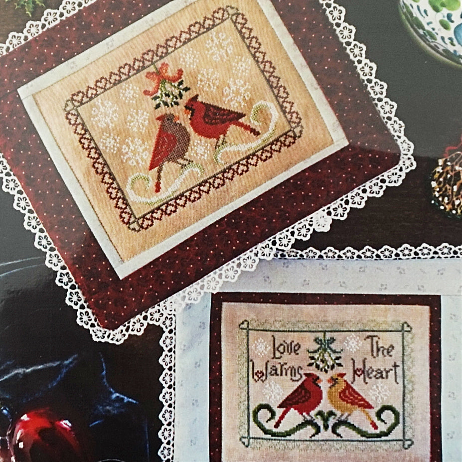 Winter Valentine counted cross stitch pattern