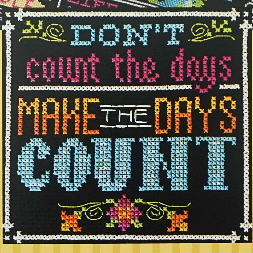 Make the Days Count counted cross stitch pattern
