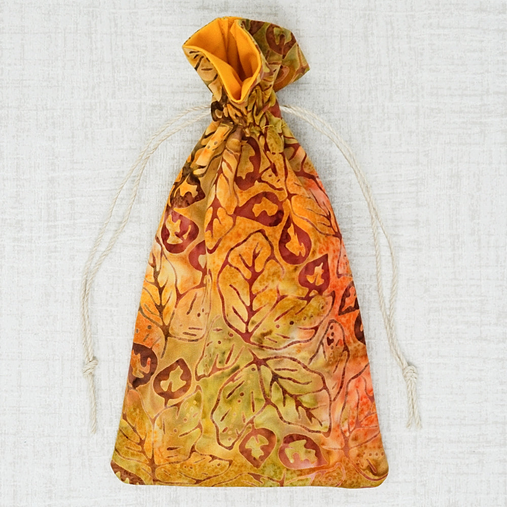 autumn leaves cross stitch accessory bag