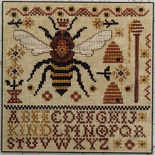 Bee Kind counted cross stitch pattern
