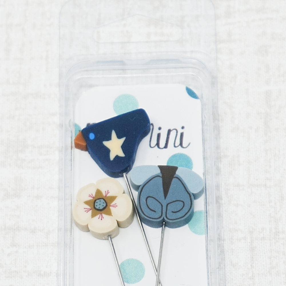Liberty pin pack - white flower, blue bird, and blue butterfly