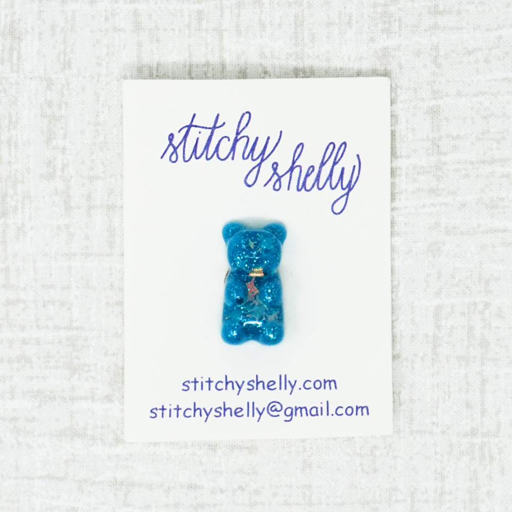 blue gummy bear needle minder by stitchy shelly