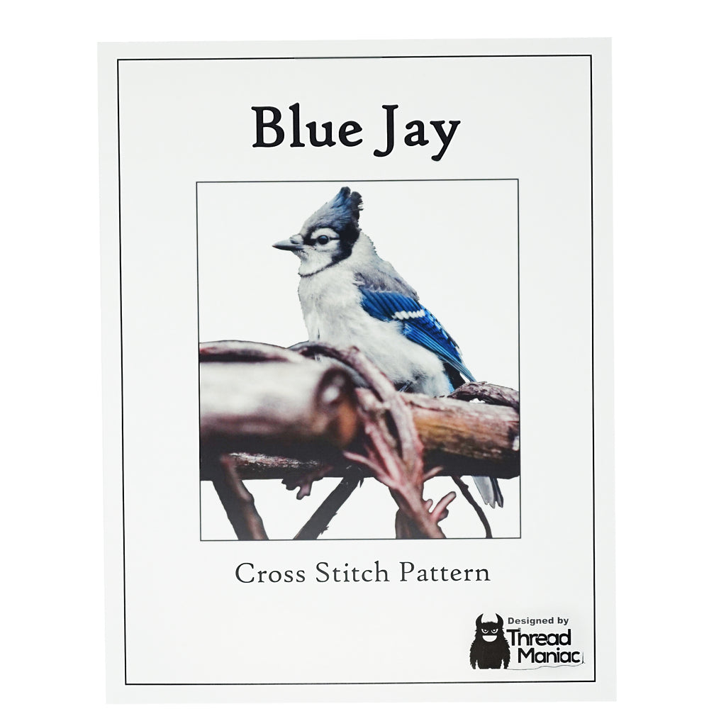 Blue Jay cross stitch pattern cover