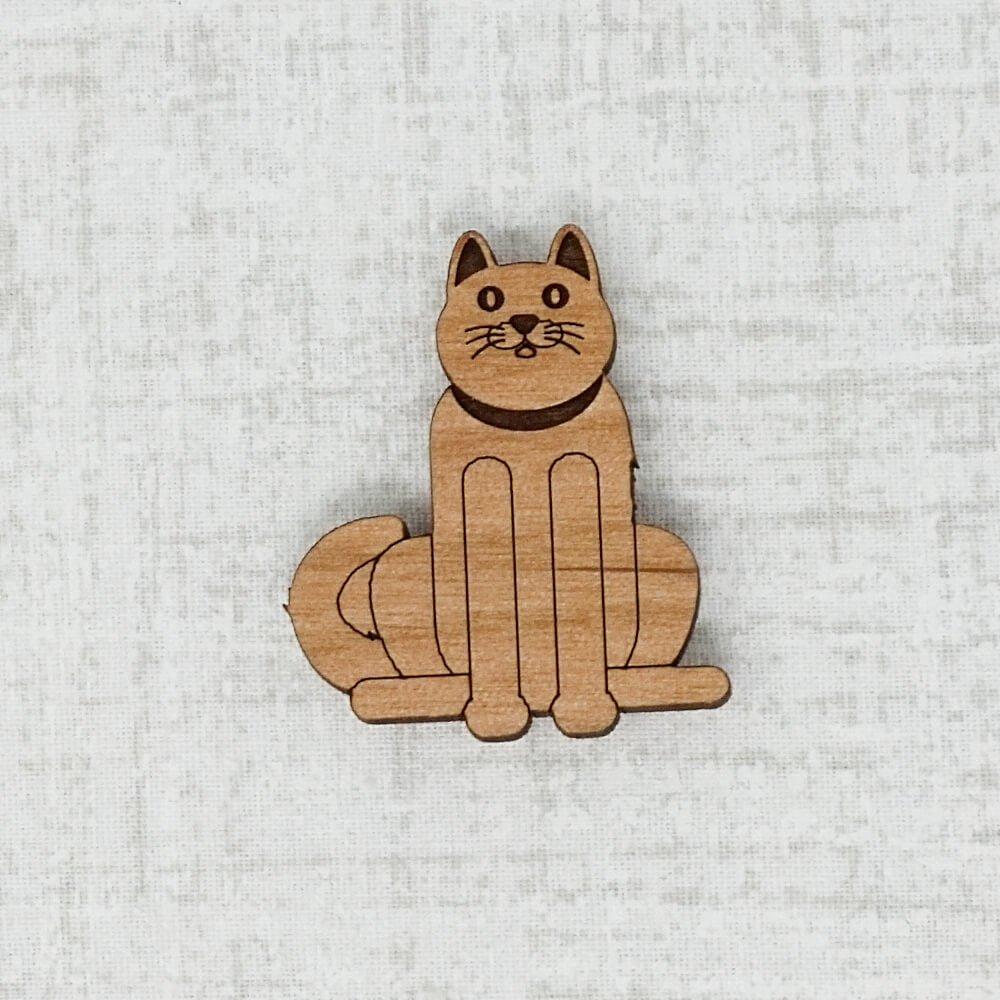 Dark Cat Needle Minder by Joseph's Workshop